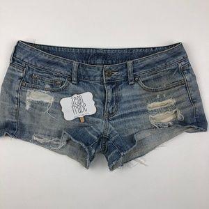aerie distressed cutoff jean shorts